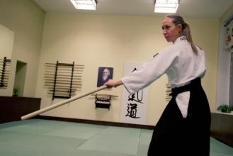 айкидо айкикай занятие с оружием дзе Школа Марии Тиницкой