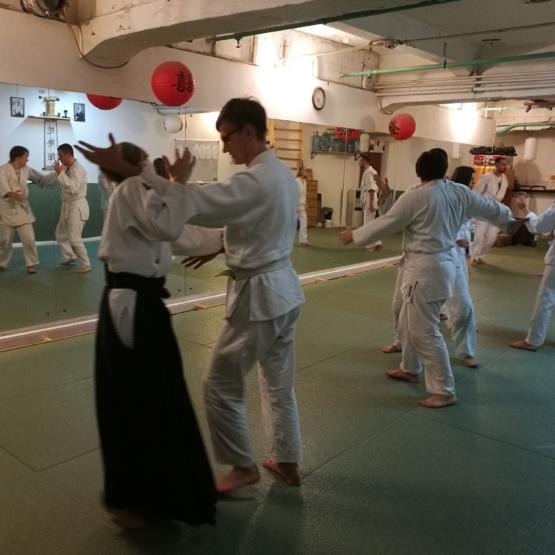 школа айкидо айкикай Марии Тиницкой семинар выведение из равновесия партнера