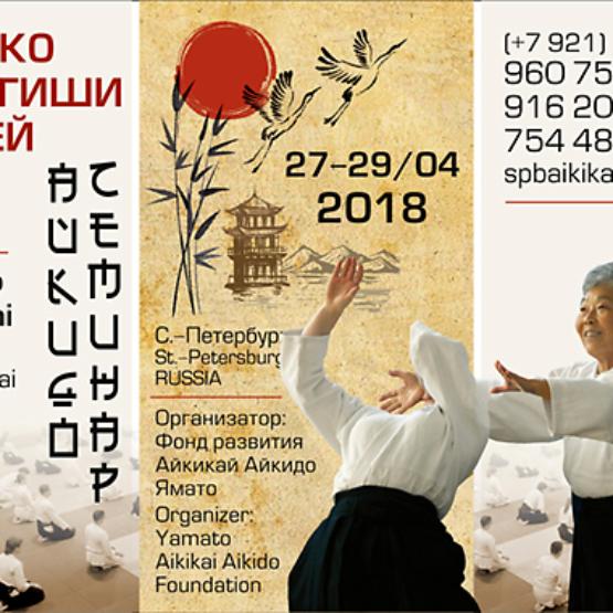 семинар айкидо 2018 года сенсея Муцуко Минегиши